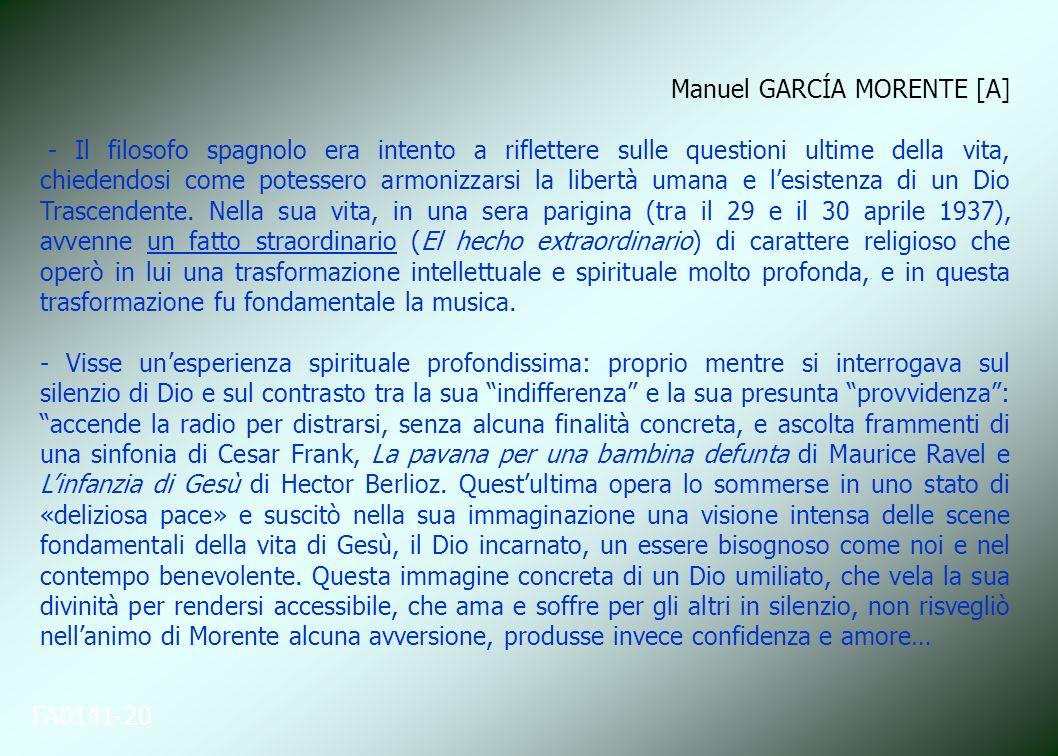 Manuel GARCÍA MORENTE [A]